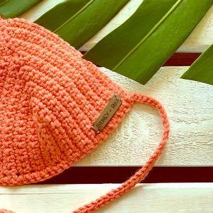 Boho-Chic Organic Cotton Crochet Bikini Top